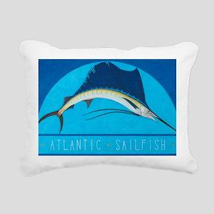 Atlantic Sailfish Rectangular Canvas Pillow
