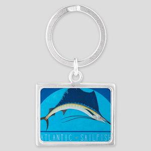 Atlantic Sailfish Landscape Keychain