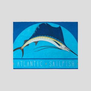 Atlantic Sailfish 5'x7'Area Rug