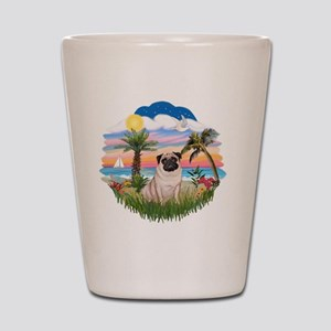 Palms - Fawn Pug 17 Shot Glass