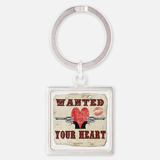 wanted_your_heart Square Keychain