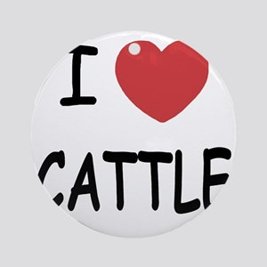 CATTLE Round Ornament