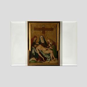 Pieta - Pedro Berruguete - c1480 Magnets