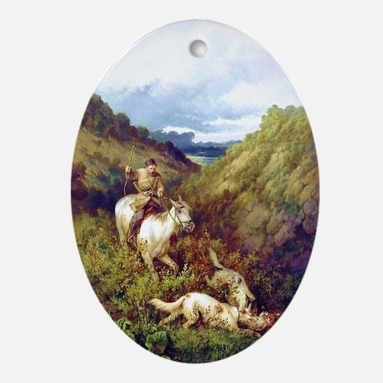 TheHuntDryBrush Oval Ornament