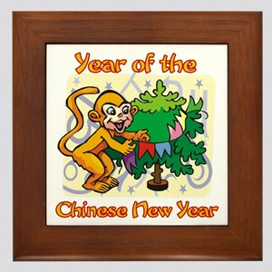 Chinese New Year Year of the Monkey Framed Tile