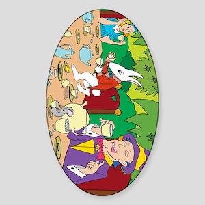 teapartyside Sticker (Oval)