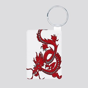 Red-Dragon Aluminum Photo Keychain