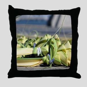 Sweetgrass Roses Throw Pillow