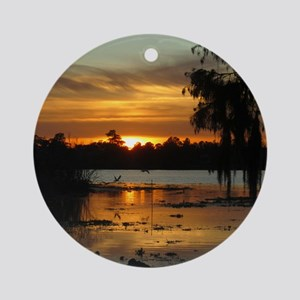 Lowcountry Sunset Round Ornament