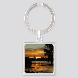 Lowcountry Sunset Square Keychain