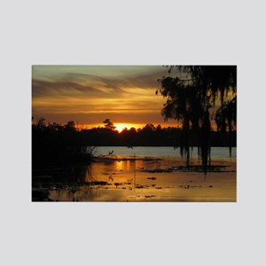 Lowcountry Sunset Rectangle Magnet