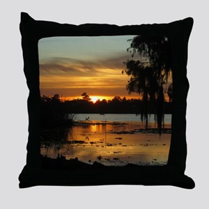 Lowcountry Sunset Throw Pillow
