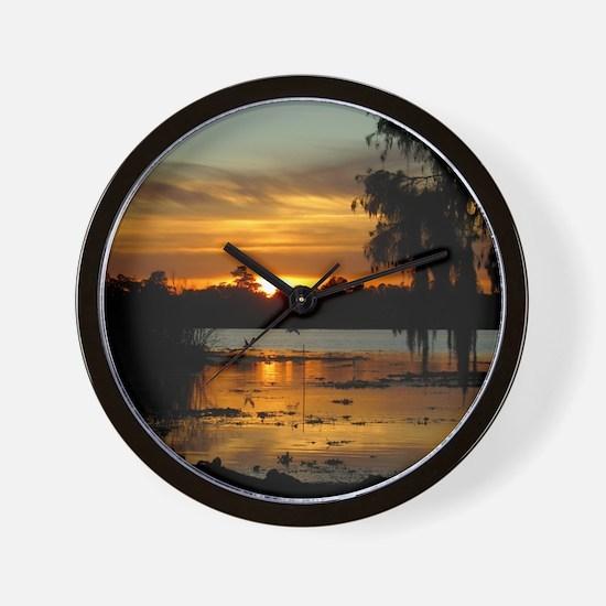 Lowcountry Sunset Wall Clock