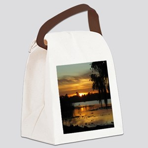 Lowcountry Sunset Canvas Lunch Bag
