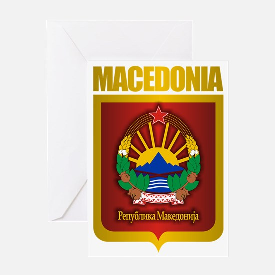 Macedonian Gold Greeting Card