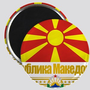 Macedonia (Flag 10) Magnet