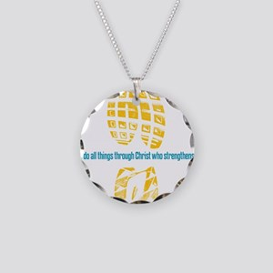 413 running back Necklace Circle Charm