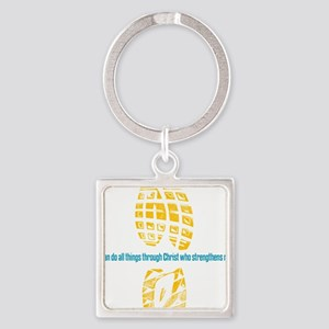 413 running back Square Keychain