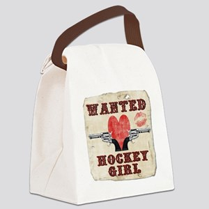 wanted_hockey_girl Canvas Lunch Bag