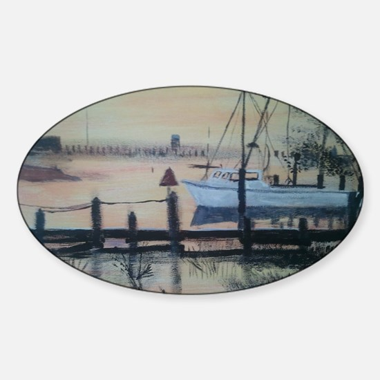 Tighlman sunset Sticker (Oval)