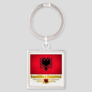Albania (Flag 10) 2 Square Keychain