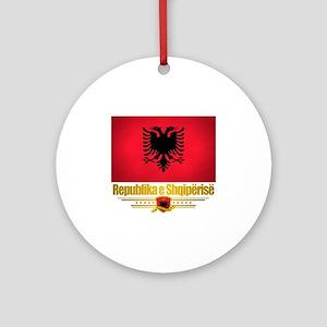 Albania (Flag 10) 2 Round Ornament