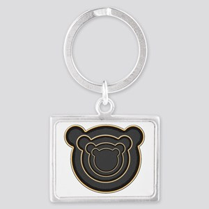 Bear Head Landscape Keychain