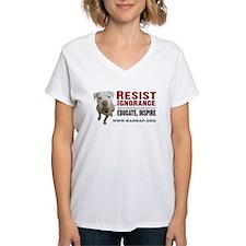 Resist Ignorance Women's V-Neck T-Shirt