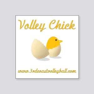 "Volley Chick Square Sticker 3"" x 3"""