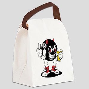 devil_8_ball Canvas Lunch Bag
