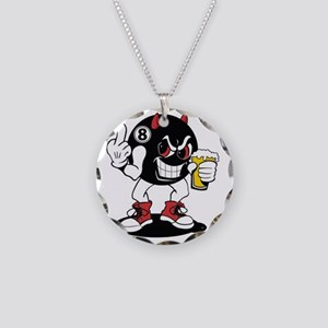 devil_8_ball Necklace Circle Charm