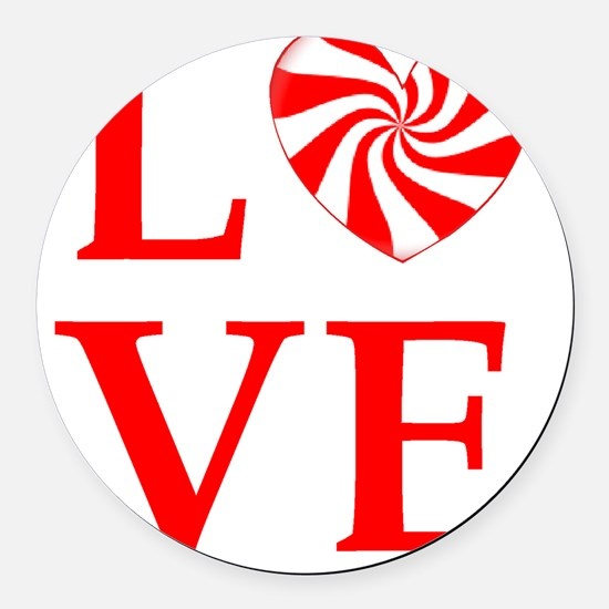 love peppermint_candy Round Car Magnet