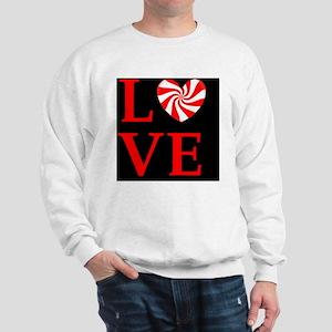 love peppermint_candydbutkey Sweatshirt