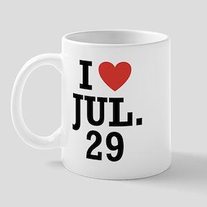 I Heart July 29 Mug