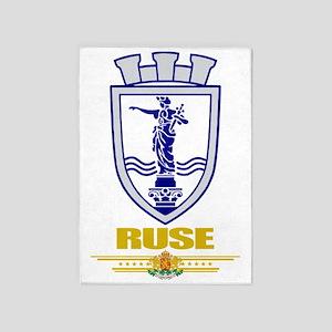 Ruse COA (flag 10) 5'x7'Area Rug