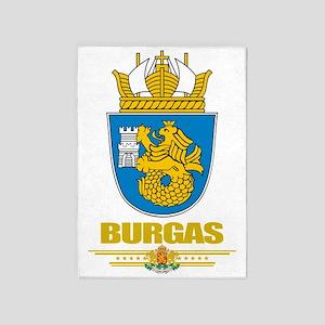 Burgas COA (flag 10) 5'x7'Area Rug