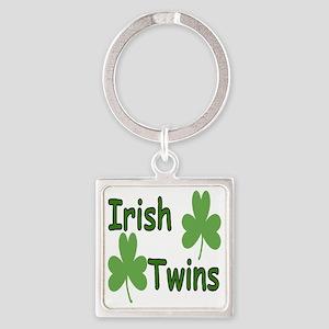 IrishTwinscompact Square Keychain