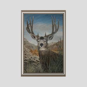 Mule deer oil painting,Rectangle Magnet