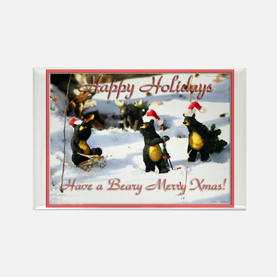 Holiday Bears,Rectangle Magnet