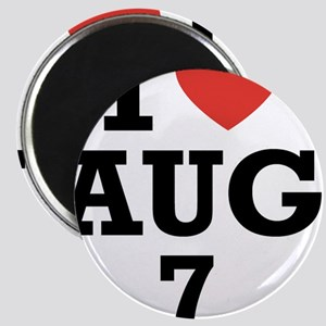 I Heart August 7 Magnet