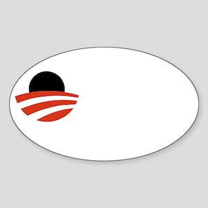 obama-must-go-dark Sticker (Oval)
