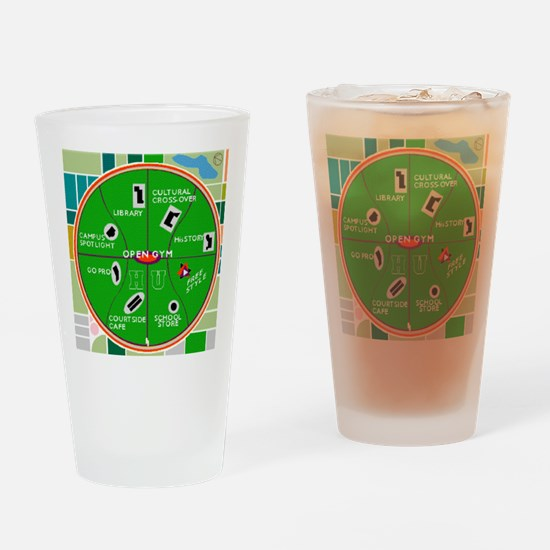 HU Campus Map Print.gif Drinking Glass