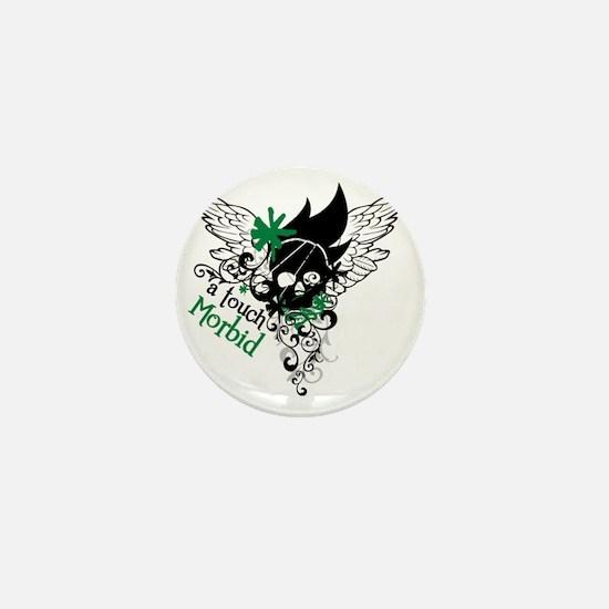 Morbid Skull Mini Button