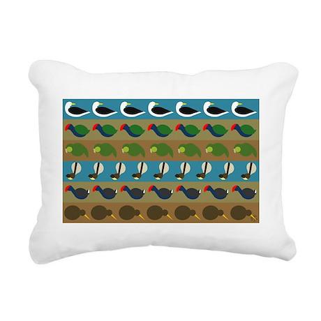 nz bird stripes Rectangular Canvas Pillow