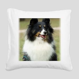 Shetland Sheepdog 9J089D-19 Square Canvas Pillow