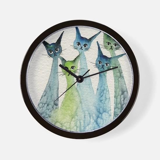blue green lakeland Wall Clock