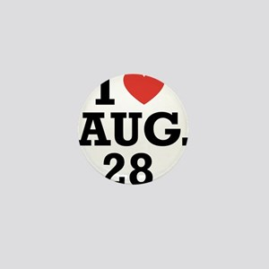 I Heart August 28 Mini Button