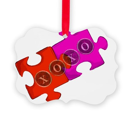 puzzle_piece_2 Picture Ornament