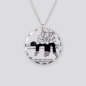 3690_macho_cartoon Necklace Circle Charm