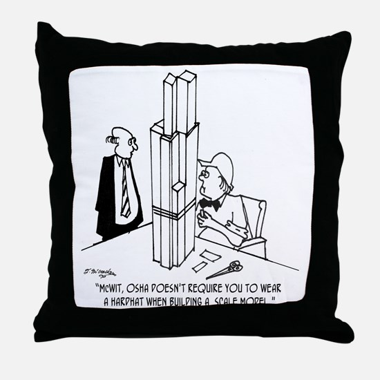 3694_OSHA_cartoon Throw Pillow